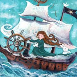 Beneath Full Sails by jonwassing