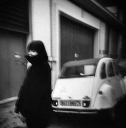 girl with a car by genepulse