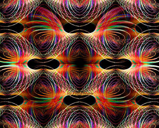Autumn  Psychedelic Waves Fractal by youlittlemonkey