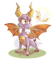 A game character a day 008-Spyro and Sparx by Sony-Shock