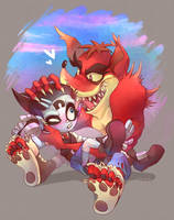 ART TRADE-Nina and Evil Crash by Sony-Shock