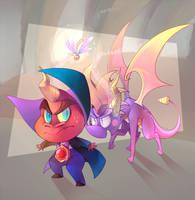 Spyro vs Ripto by Sony-Shock