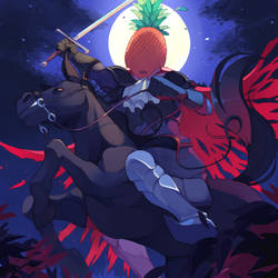 Pineapple horseman by Sony-Shock