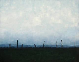 Fenceposts.8. by Silver Farley by silverfarley