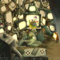 Television Melts Brains by SMOOOSH