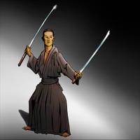 Samurai pose by hipe-0