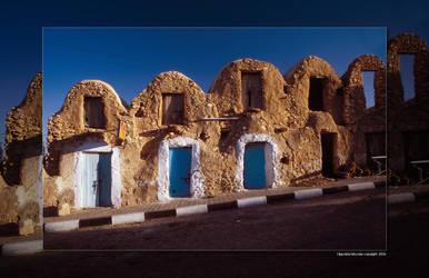 Doors in a tunisian street by hipe-0