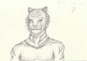 Tribal Tiger Man by Wakerra
