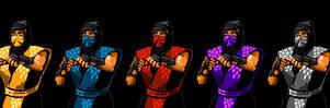 8-Bit Ninja Troop by CallMeMrA