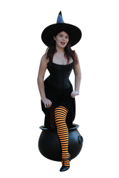 Witchy Pinup Precut Stock 2 by MelHeflin