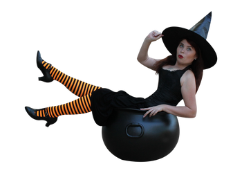Witchy Pinup Precut Stock 3 by MelHeflin