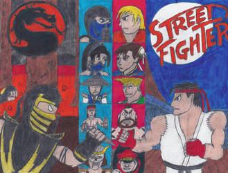 Street Fighter X Mortal Kombat (Phase 3) by MushroomHedgehog