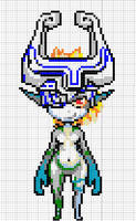 Pixel Art Grid - Midna by Unstable-Life
