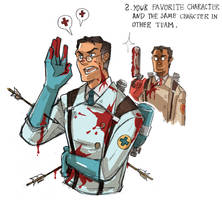:Medics in the two teams by JaneDoemmmmm