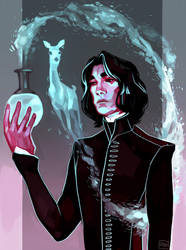 Snape by artofpan