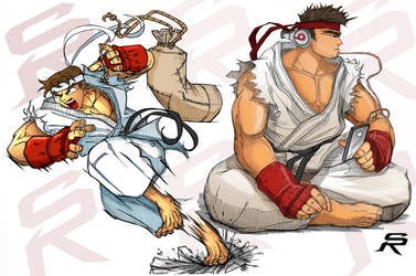 alpha and Sf2 ryu. by DonWily-ROBOTNIK