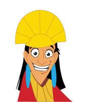 Kuzco cartoon by supernerdcait