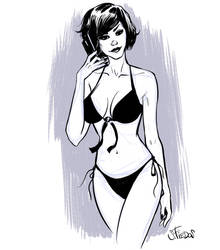 Quick pinup sketch of the evening by serge-fiedos