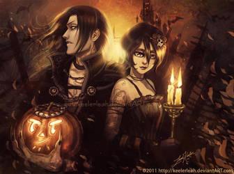 Bleach Halloween Byakuya Rukia by keelerleah