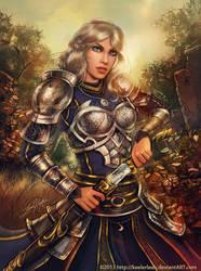 The Silver Knight by keelerleah