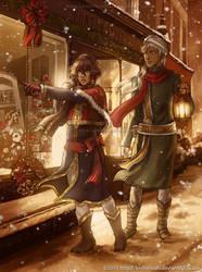 Kuroshitsuji Christmas: Soma and Agni by keelerleah