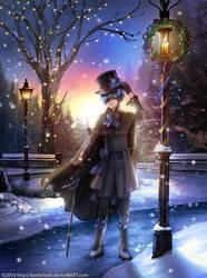Kuroshitsuji Christmas: Winter Ciel by keelerleah