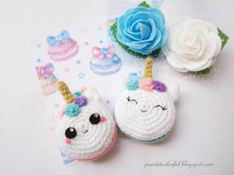 Amigurumi Unicorn macaron free pattern by Anitadoma