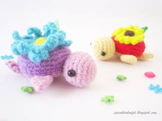 Spring turtle pattern by Anitadoma