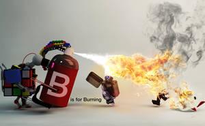 B is for Burning by JoshDykgraaf