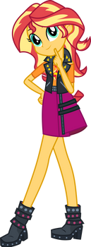 Sunset Shimmer (part of Group picture) by SpokenMind93