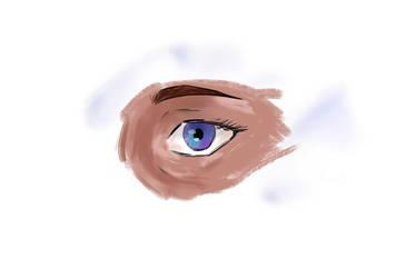 Oil Brush Digital Eye by asamivalerious