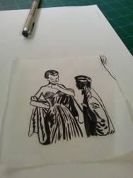 More pen and ink practice :D by Skoomabandit