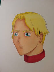 Random manga style face with copic markers by Skoomabandit