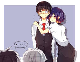 kuroneki and touka~ by ChappyVII