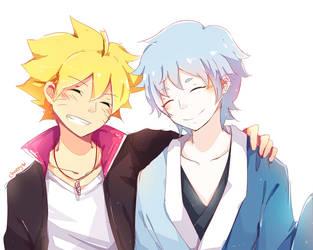 Boruto and Mitsuki - friendship by ChappyVII