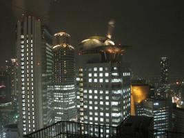 Stock: Night Buildings by AntiRetrovirus