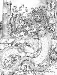 WonderWoman vs Medusa JL 2018 by JoseLuisarts