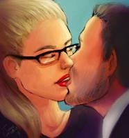 Arrow Olicity Kiss by TanyaGreece