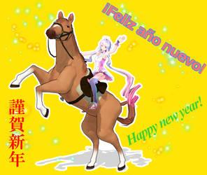 Happy New Year 2014 by chibideko