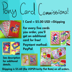 Pony Card Commissions! by Zelda5