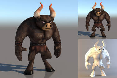 Minotaur Low Poly Character by JDVA3D