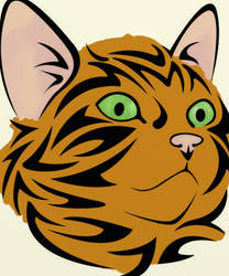 Tribal Cat Colored-Tiger Tabby by Writer-Colorer