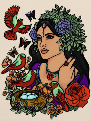 India Inspired Woman by Writer-Colorer