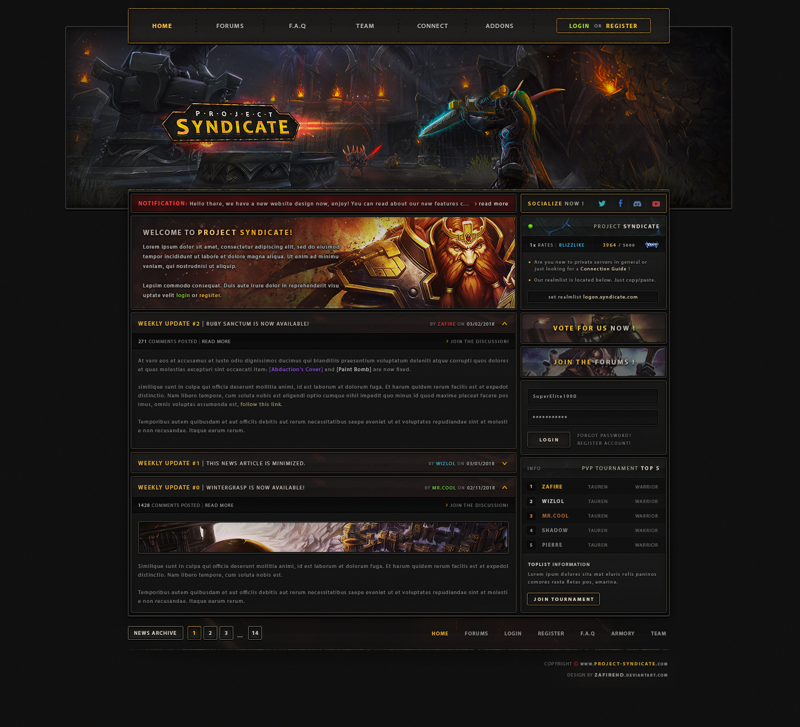 Project Syndicate Webdesign by ZafireHD