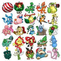 Christmas Pokemon by ArchaosTeryx