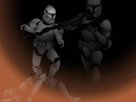 Clone Trooper Unleashed by JillGiovanni