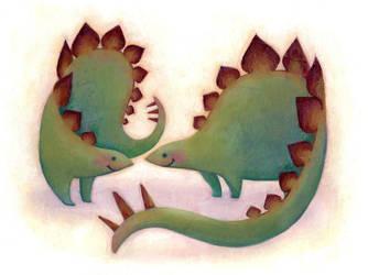 Dinosaur Love 1 by redredundance