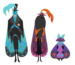 Moth Family by redredundance