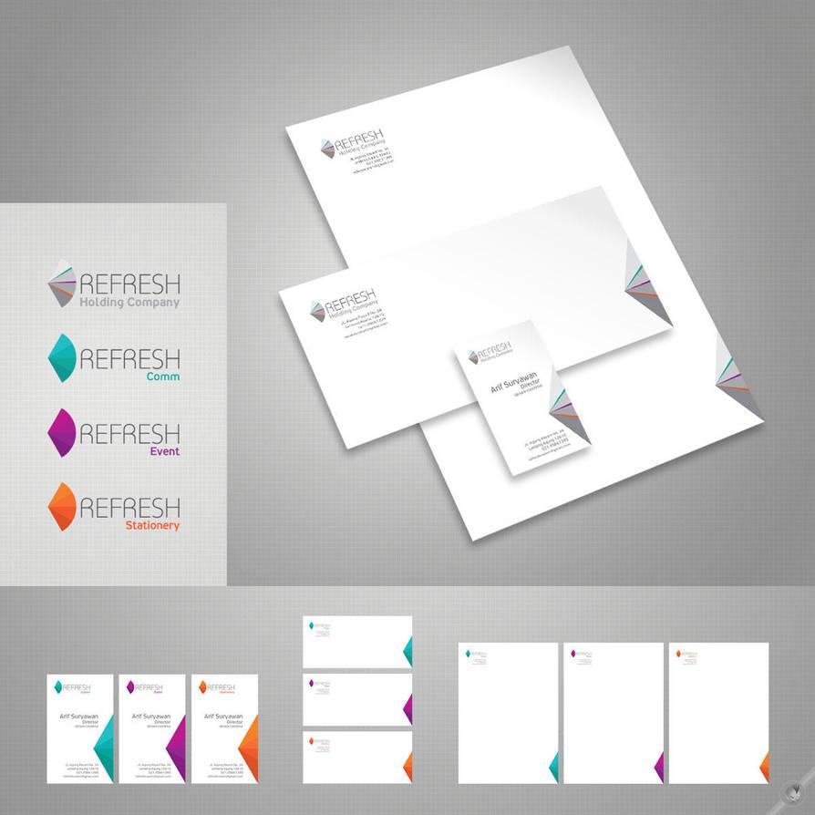 Refresh - Logo and Stationery by ayamsuhayam