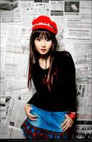 Newspaper Girl II by BlackMageAlodia